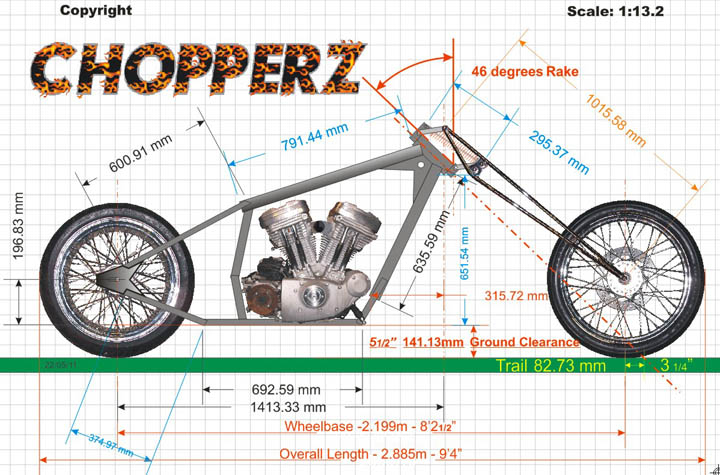Chopper Motorbike Drawing Harley Davidson hd Sportster