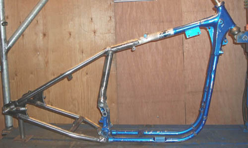 HD Ironhead Sportster Frame Hard Tailed